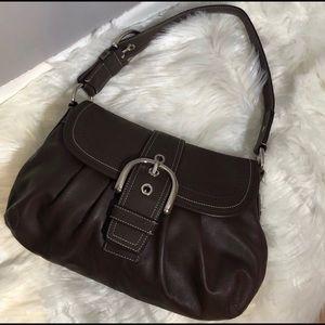 Large Coach Shoulder Bag Leather